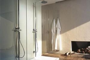 Räuchereiche im Badezimmer Dusche Bad Homburg
