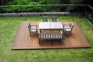Bangkirai Terrasse geriffelt Deck Kronberg