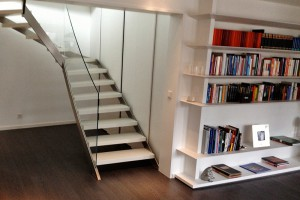 Weiße Treppe Kern Design Frankfurt