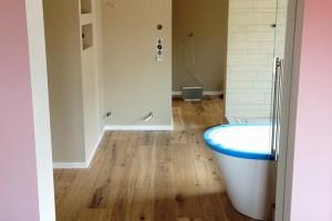 Eiche Dielen Neuverlegung Badezimmer Weiterstadt