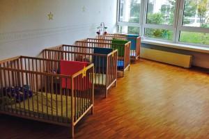 Parkett Neuverlegung Kindergarten Villa Luna Frankfurt Sachsenhausen