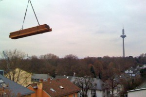 Anlieferung Terrassenholz Frankfurt Westend