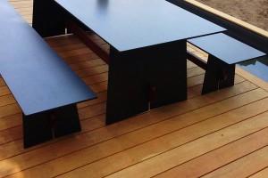Garapa Terrassendeck glatt Sitzgruppe